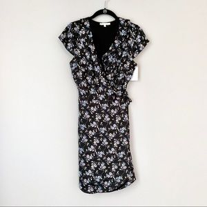 NWT! Willow & Clay Black Floral Wrap Dress
